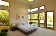 30 Design Ideas Of Modern Floating Bed : High Ceiling And Accents Of Wood Add To The Beauty Of This Master Bedroom
