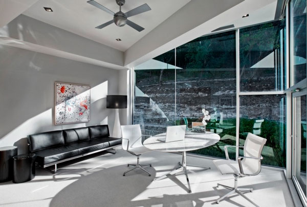 Inspirational Conference Table Design That You Will Love: Incredible Home Office Furniture With WHite Color Design And Glass Wall Style ~ stevenwardhair.com Tables Inspiration