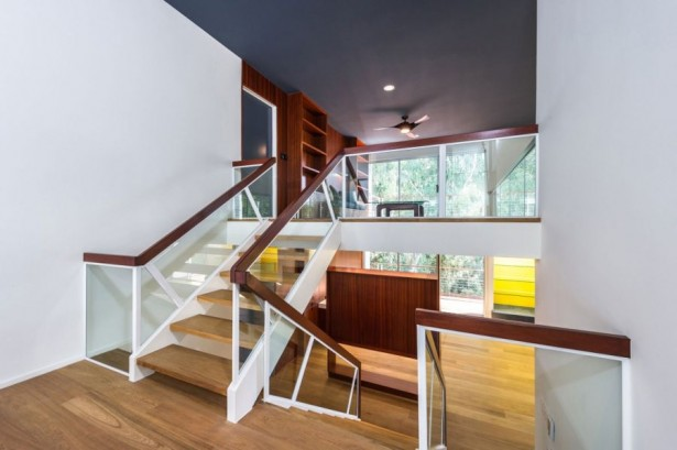 Peaceful Modern Residence In California Comforts Your Living: Incredible Wooden Staircase With Glass Railing Design In Modern Decoration Ideas ~ stevenwardhair.com Apartments Inspiration