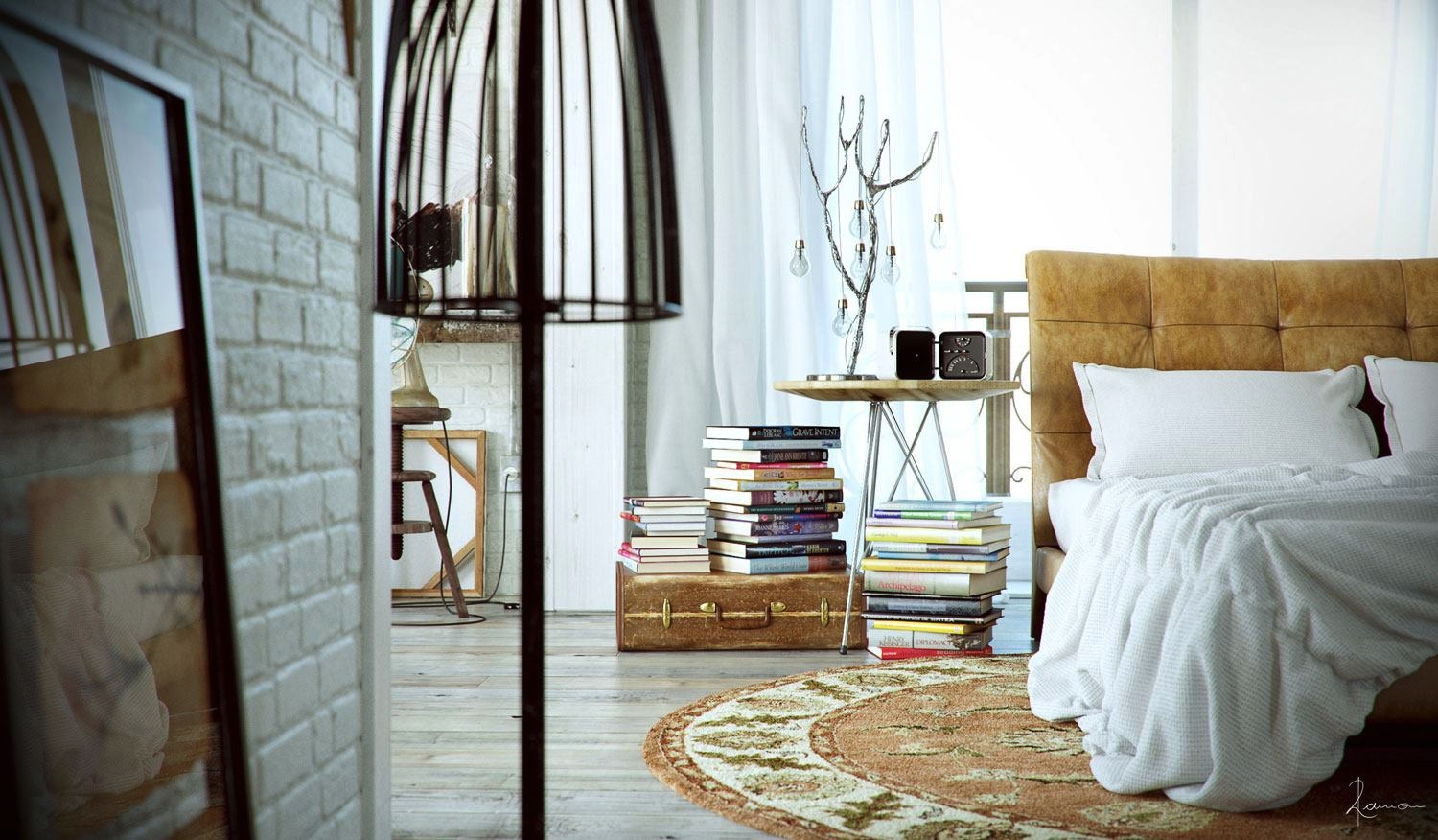 Industrial Bedroom Give You Artistic Feeling : Industrial Bedroom