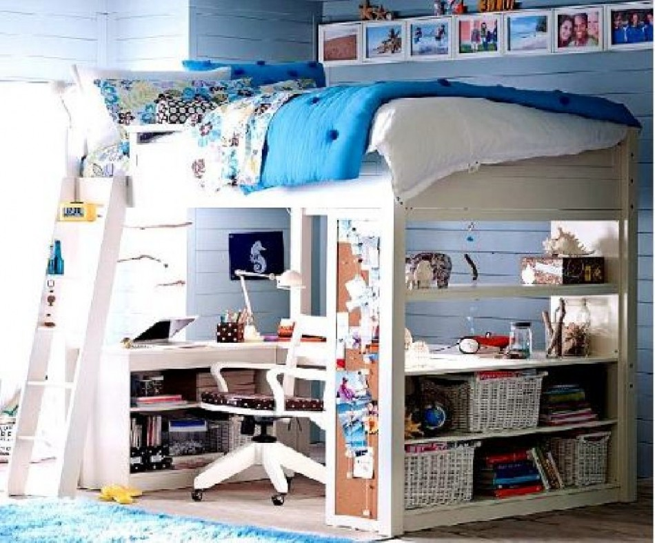 Spanish Decor With The Elegant Design : Innovative Kids Design Inspiring Childs Bedroom Study Designs