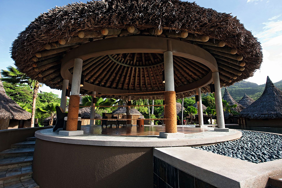 Beautiful Luxurious Resort With Beautiful Natural Views: Inredible Tribal Gazebo With Dry Straws Roof And Dome Ceiling Featured By Ephelia Constance Resort