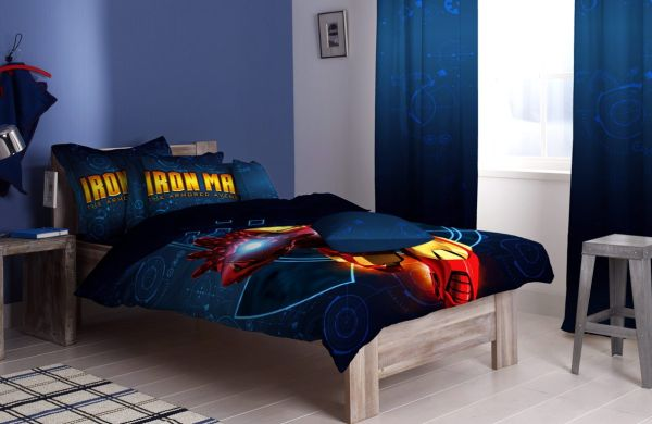 Attractive Superhero Bedding For A Lively Room: Iron Man Sheets For Those Always Young At Heart