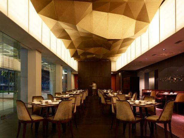 Aesthetic Asian Restaurant Interior Design With Warm Circumstance: Jing Restaurant One Fullerton Singapore Interior Design ~ stevenwardhair.com Architecture Inspiration