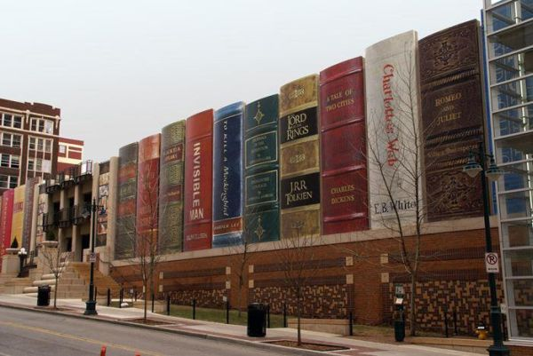 Awesome Parking Garage Designs; 11 Amazing Images: Kansas City Public Librarys Community Bookshelf Parking