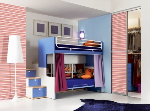 Twin Beds For Kids Comes With The Interesting Design : Kids Twin Bunk Bed