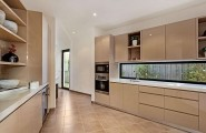 Classy Melbourne Home With Stunning Panorama : Kitchen Design In Cappuccino Shades