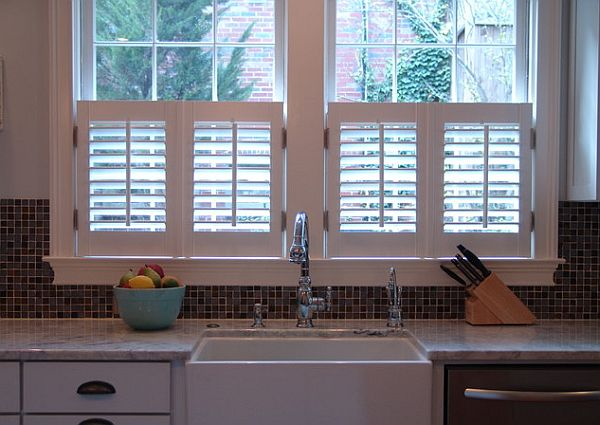 Do Up Your Interior With Indoor Shutters For Windows : Kitchen Interior  Shutters