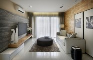 Gorgeous Contemporary Interior Completed Your Home With Nature`s Touch : Kuala Lumpur Apartment