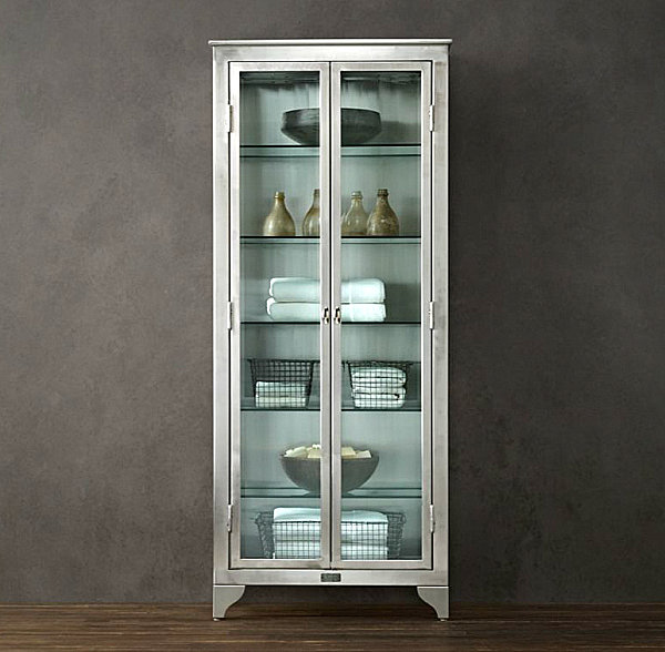 10 Images Of Stylish Glass Cabinets : Laboratory Stainless Steel And Glass Cabinet