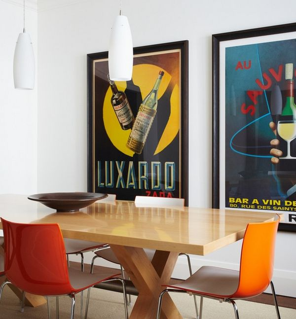 Artistic Vintage Poster Decoration Comes With The Great Design: Large And Neatly Framed Posters Exude A Sleek And Modern Vibe