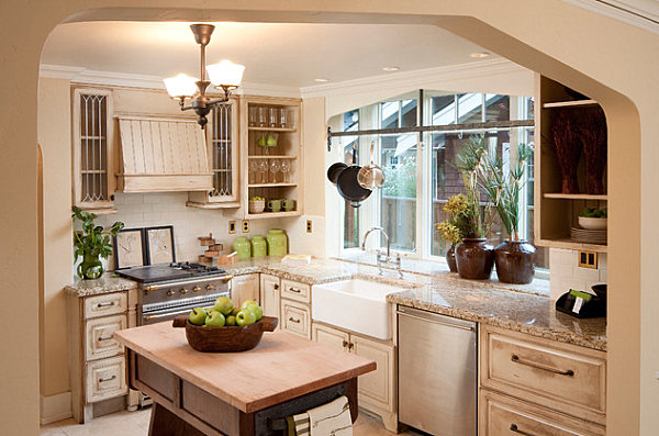Wonderful Kitchen Decor To Make It As Attractive Vocal Point In The House: Large Plants In A Kitchen Window