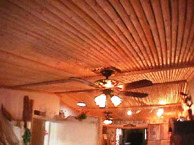 Do Up Your Culinary Space With These Kitchen Ceiling Ideas: Latilla Kitchen Ceiling Ideas