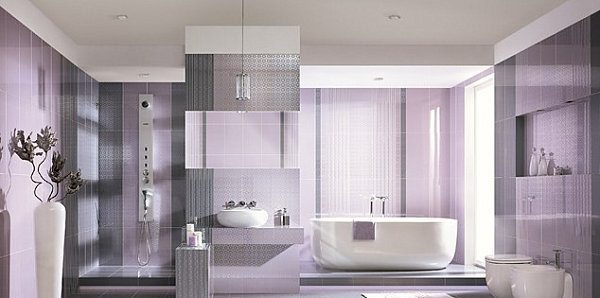 Artistic Pastel Color Palette Decoration : Lavender Bathroom