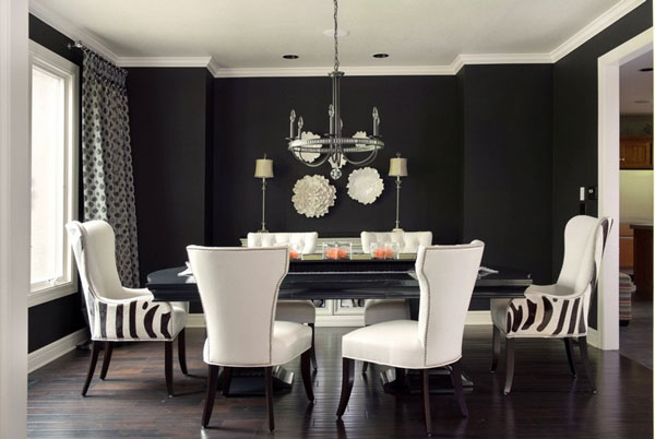 Lavish Dining Room Interior With Black And White Design Ideas In Classical Touch