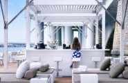 Enchanting Bar And Terrace Designs Ideas For Your Delight : Lavish Floating Beach Bar At The Monaco Life Club