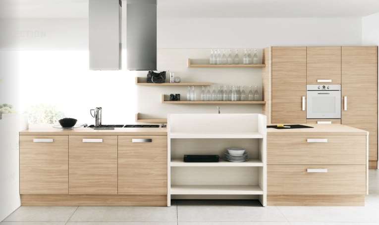 Contemporary Kitchens With Exceptional Ideas : Light Wood Cream Kitchen