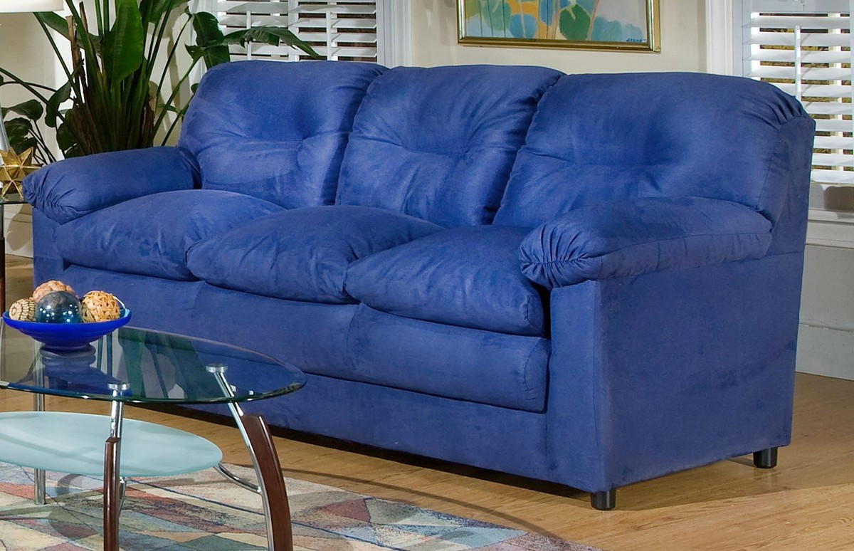 Blue Sofas Selection For Minimalist Living Room: Lisa Sofa Cobalt Blue Triad Upholstery1