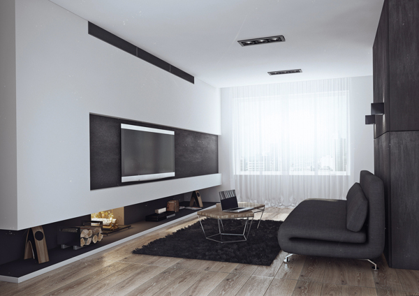 Sleek Studio Room Ideas You Need To Know: Living Room Of The Bachelor Pad