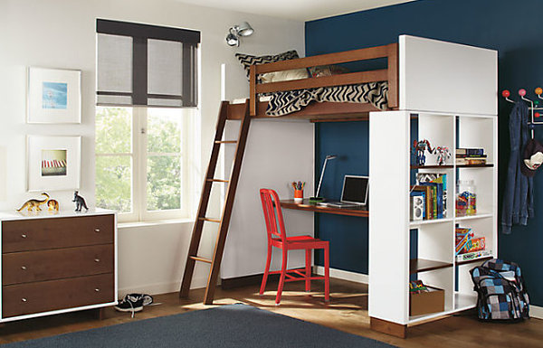 20 Contemporary Ideas Of Enchanting Adult Loft Beds: Loft Bed With Desk Underneath