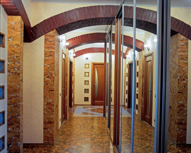 Natural Wooden Windows And Door Designs Create Warm Atmosphere: Long Corridor Wooden Windows And Door Designs Large Mirror ~ stevenwardhair.com Windows Inspiration