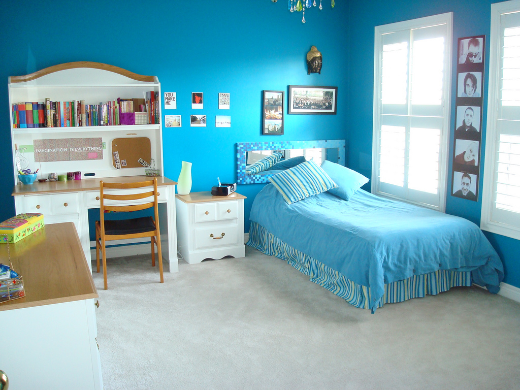 Bedroom Ideas For Young Adults Boys And Girls : Lovely Teens Bedroom Decorating Ideas Blue Bedroom Ideas For Young Adults