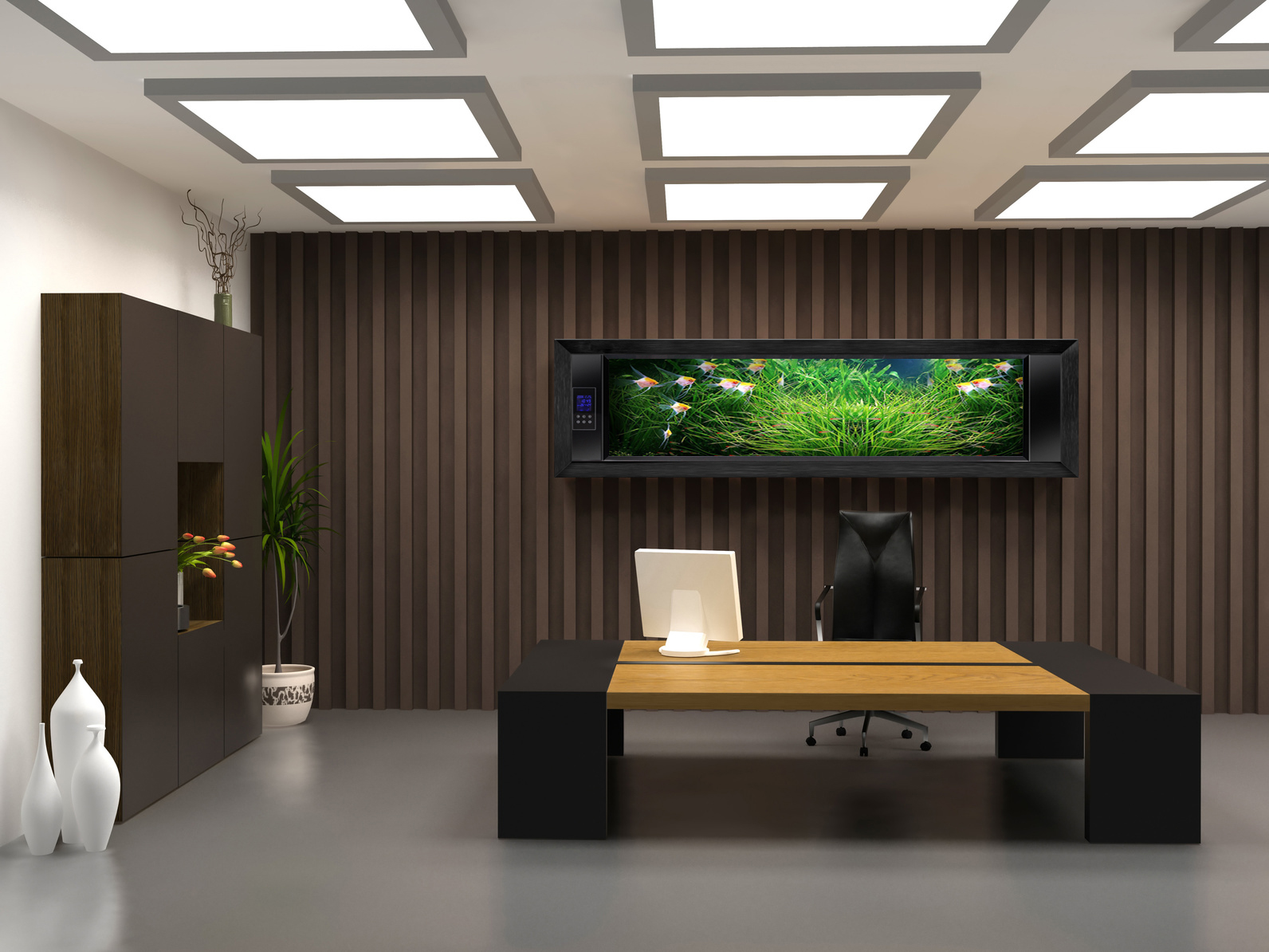 Minimalist Computer Desk For Better Productivity : Luxury And Modern Computer Furniture For Interior Design And Decorating Of Office At Home Apartment