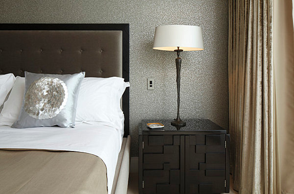 Lacquered Furniture For Gorgeous Interior Performance : Luxury Bedroom With Lacquered Furniture
