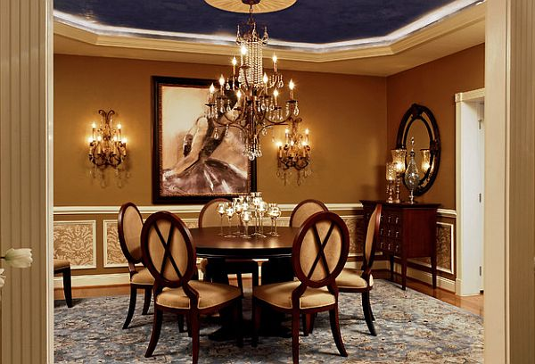 Stylish Dining Room Sticking Out Modesty Ideas In Your Home: Luxury Dining Room With Round Table