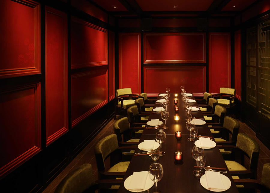 Aesthetic Asian Restaurant Interior Design With Warm Circumstance: Luxury Private Dining Restaurant Hospitality Interior Design Hakkasan Mayfair London UK