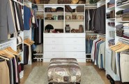 Walk In Wardrobe Designs For Well Organized Clothing : Magnificent Modern White Walk In Wardrobe Designs Ideas