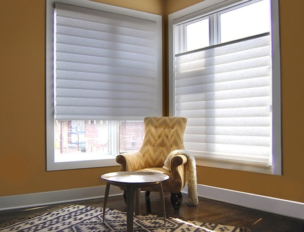 Impressive Modern Window Blinds With Multi Function: Magnificent Modern Window Blinds Wooden Floor Brown Interior Design ~ stevenwardhair.com Windows Inspiration
