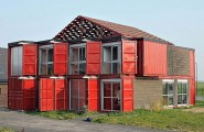 Lovely Houses Made From Shipping Containers With Bold Display : Maison Container House By Patrick Partouche