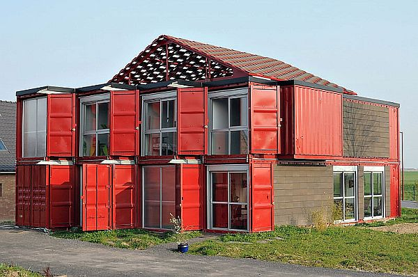 Lovely Houses Made From Shipping Containers With Bold Display: Maison Container House By Patrick Partouche