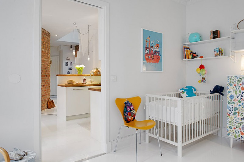 Fabulous Scandinavian House Design In Luxurious Design : Maisonette Nursery Room