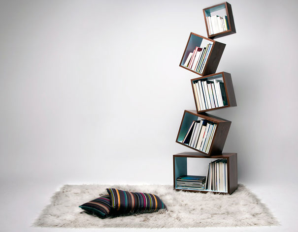 Bookshelf Design Of Spiral Fashion: Malagana Equilibrium Bookcase