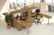 Sleek Modern Office Furniture Makes Stylish And Cool Office Atmosphere : Marvelous Wooden Accents Desk Modern Office Furniture Ideas