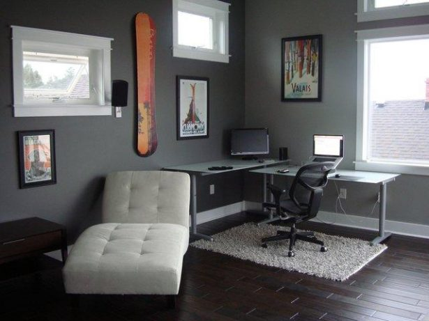 Cool Office Decorating Ideas For Men With True Beauty And Elegance: Mens Office Interiors With White Rug Modern Home Office Decor ~ stevenwardhair.com Office & Workspace Design Inspiration