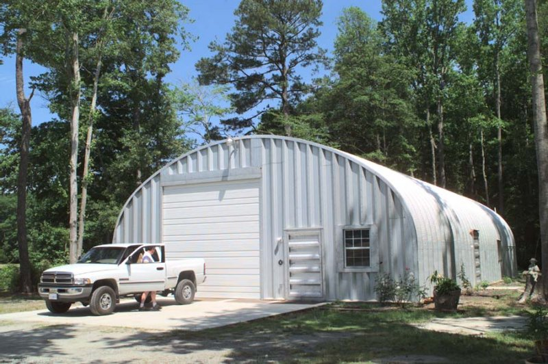 Fine Designed Prefab Garage With Visual Simplicity: Metal Buildings Garage Prefab Garage Kits Model