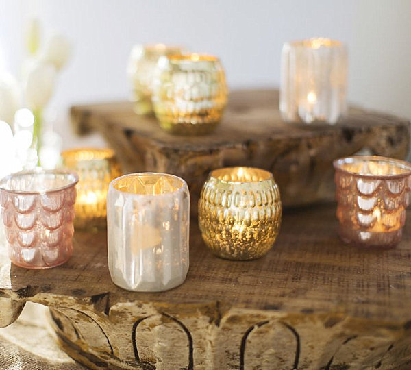 Easter Furnishing For Welcoming Prettiness Of The Spring: 21 Striking Images: Metallic Votive Candleholders