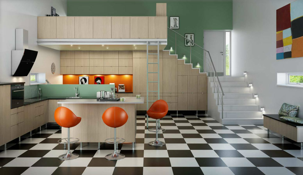 Inspiring Norwegian Kitchen Design: Mid 60s Mod Norwegian Kitchen