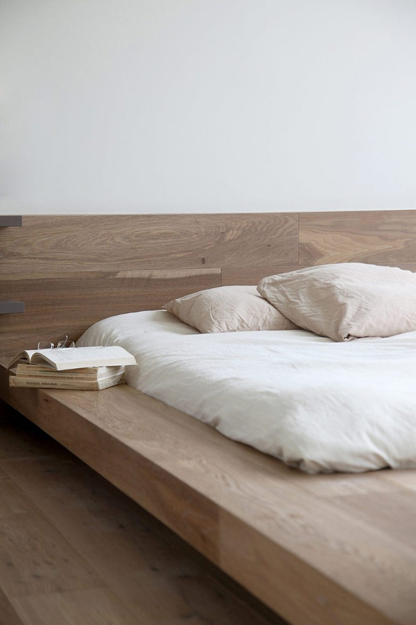 Beauty Details Of Contemporary Greek Penthouse: 17 Images : Minimalist Bed Frame Japanese Influences