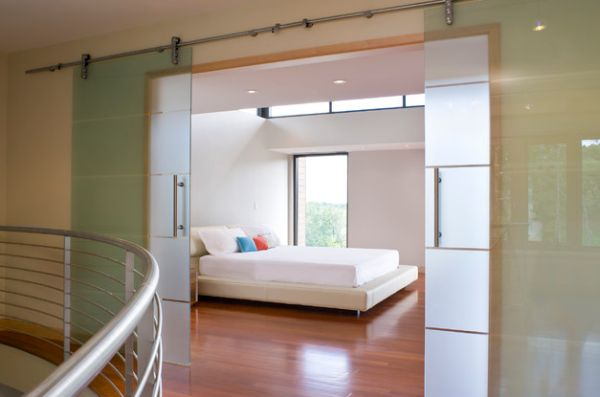 Stylish Sliding Glass Door Designs 40 Modern Images  Minimalist Bedroom With Translucent Sliding Glass & Doors: Minimalist Bedroom With Translucent Sliding Glass Walls ...