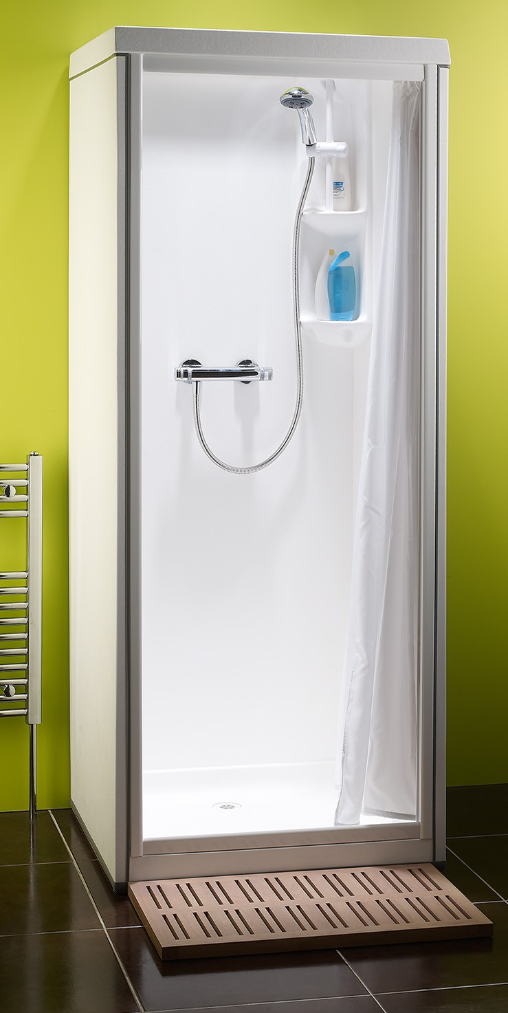 One Piece Shower Units For Having The Spa Sensation: Minimalist One Piece Shower Units Ideas