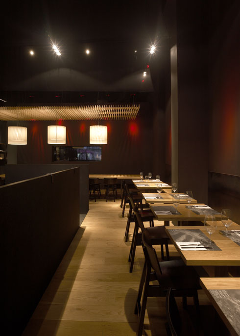 Friendly Minimalist Restaurant Design Complete With Minimalist Menu: Minimalist Restaurant Design Modern Wooden Style Floor And Table