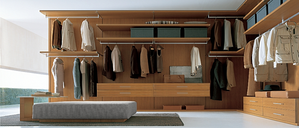 Walk In Wardrobe Designs For Well Organized Clothing : Minimalist Wooden Style Closets Walk In Wardrobe Designs