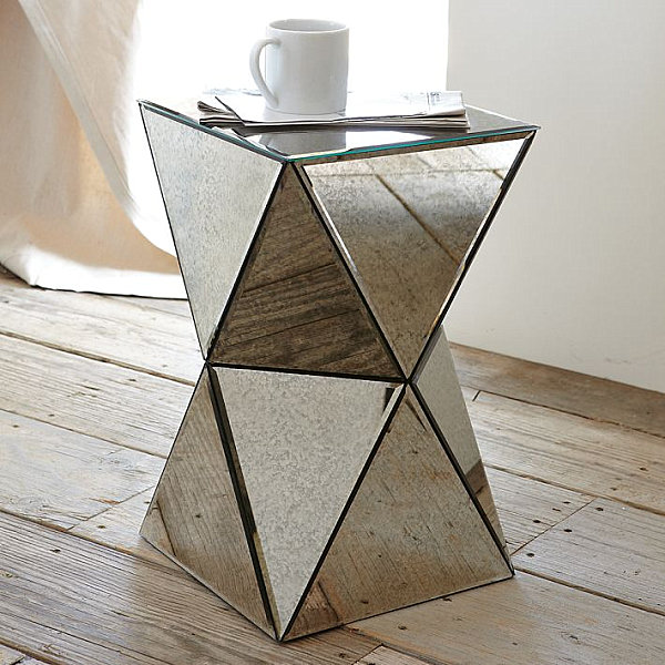 Well Dressed Art Deco Furniture (20 Ideas): Mirrored Side Table