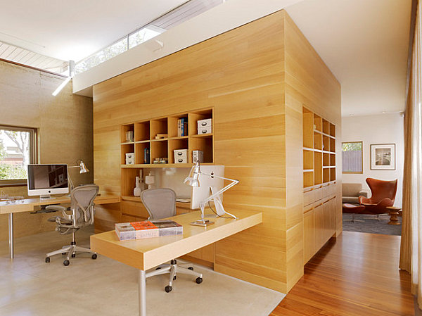 Awesome Home Office Designs Modern Ideas : Modern Airy Home Office
