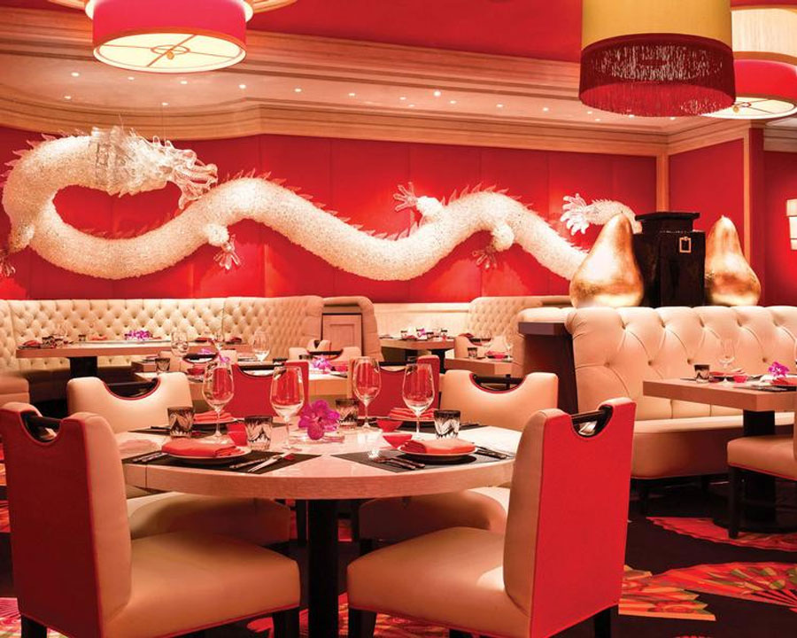 Aesthetic Asian Restaurant Interior Design With Warm Circumstance : Modern Asian Restaurant Interior Design Of Wazuzu At Encore Las Vegas Dragon