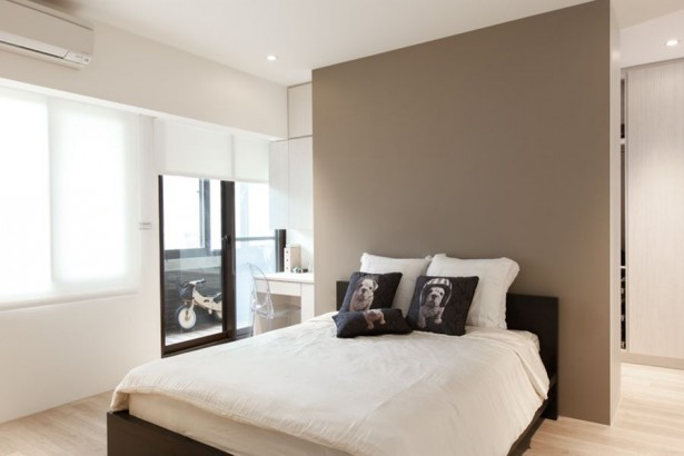 Fantastic Homey Contemporary Apartment Drive You Endure Staying There: Modern Bedroom In Cool Tones ~ stevenwardhair.com Apartments Inspiration